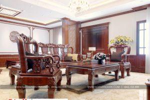 22 Không gian nội thất phòng khách tầng 5 biệt thự pháp tại ninh bình sh btp 0134