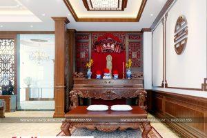 22 Thiết kế nội thất phòng thờ biệt thự cổ điển tại ninh bình sh btp 0134