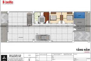 25 Mặt bằng công năng tầng hầm biệt thự pháp 5 tầng tại ninh bình sh btp 0134