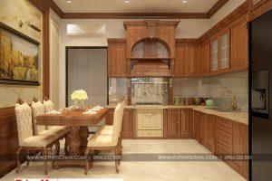 3 Thiết kế nội thất phòng bếp ăn nhà ống kiến trúc pháp tại hải phòng sh nop 0159