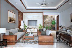 3 Thiết kế nội thất phòng khách nhà ống hiện đại 3 tầng tại hải phòng sh nod 0197