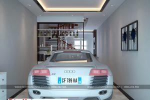 4 Thiết kế nội thất gara nhà ống tân cổ điển đẹp tại hải phòng sh nop 0188