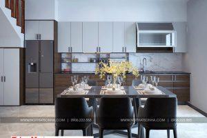 5 Mẫu nội thất phòng bếp nhà ống kiểu tân cổ điển tại hải phòng sh nop 0188