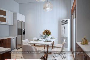 5 Thiết kế nội thất phòng bếp ăn nhà ống hiện đại đẹp tại hải phòng sh nod 0197