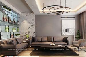 6 Không gian nội thất phòng khách nhà ống tân cổ điển 4 tầng tại hải phòng sh nop 0188