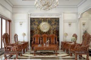 6 Mẫu nội thất phòng khách biệt thự phong cách pháp tại ninh bình sh btp 0134