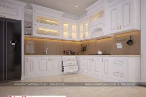 6 Thiết kế nội thất phòng bếp ăn biệt thự hiện đại đẹp tại hải phòng btd 0071