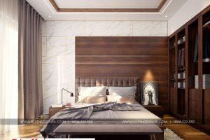7 Hình ảnh nội thất phòng ngủ 1 nhà ống phong cách tân cổ điển tại hải phòng sh nop 0188