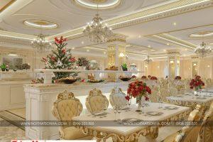 7 Thiết kế nội thất khu nhà hàng khách sạn 3 sao tại bắc ninh