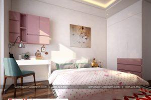 7 Thiết kế nội thất phòng ngủ 1 nhà ống hiện đại mặt tiền 6,5m tại hải phòng sh nod 0197