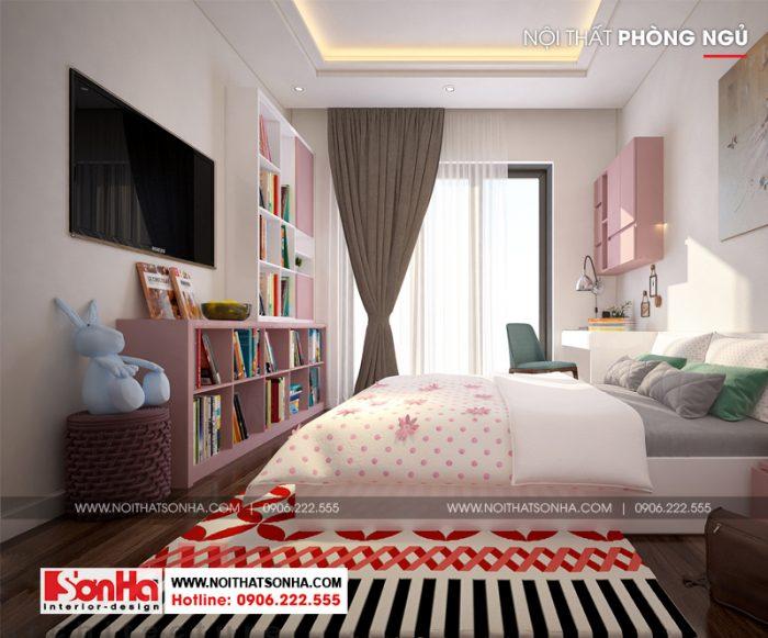 Không gian phòng ngủ đẹp được bố trí nội thất hài hòa và tinh tế