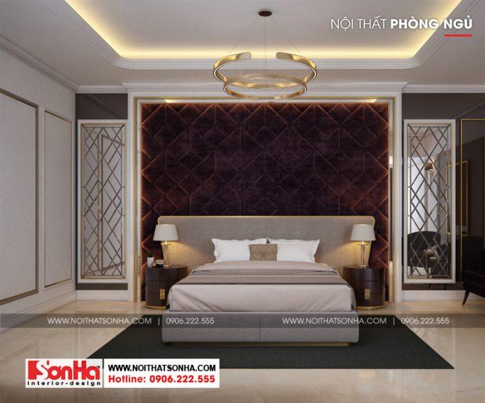 Thiết kế nội thất phòng ngủ với các đường nét nhẹ nhàng và thanh nhã
