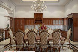 8 Thiết kế nội thất phòng bếp ăn biệt thự pháp tại ninh bình sh btp 0134