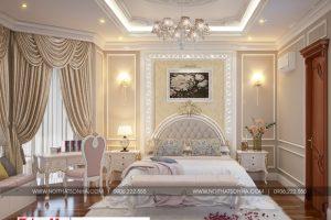 8 Thiết kế nội thất phòng ngủ 3 biệt thự tân cổ điển song lập khu đô thị vinhomes hải phòng sh btp 0125