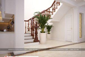 8 Thiết kế nội thất sảnh thang biệt thự hiện đại mặt tiền 9m tại hải phòng sh btd 0071