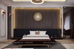 9 Không gian nội thất phòng ngủ khách sạn 6 tầng tại bắc ninh