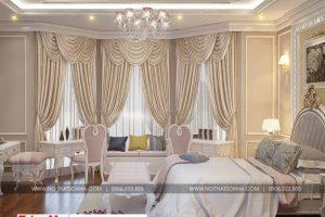 9 Mẫu nội thất phòng ngủ 3 biệt thự tân cổ điển 3 tầng khu đô thị vinhomes hải phòng sh btp 0125