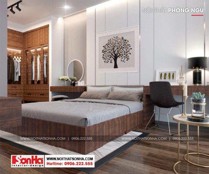Thêm một phương án thiết kế phòng ngủ phong cách hiện đại với sàn gỗ