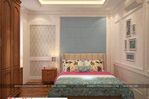 9 Thiết kế nội thất phòng ngủ 3 nhà ống kiến trúc pháp tại hải phòng sh nop 0159
