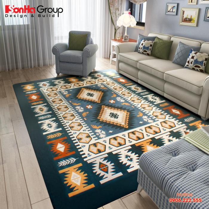 Để chọn thảm có nhiều cách để bạn phối màu sắc cho đẹp mắt