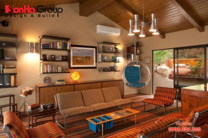 Một ví dụ cho phong cách thiết kế nội thất Retro rất được yêu thích hiện nay