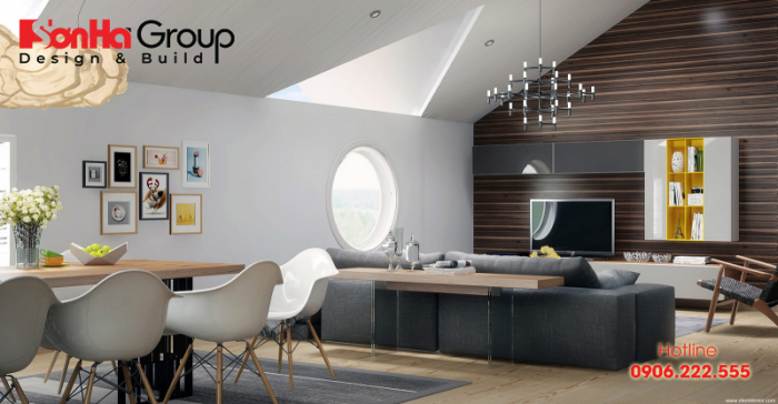 Thiết kế nội thất căn hộ chung cư theo phong cách đương đại