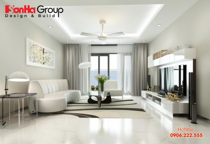 Thiết kế nội thất chung cư theo tông màu cát trắng là xu hướng mới