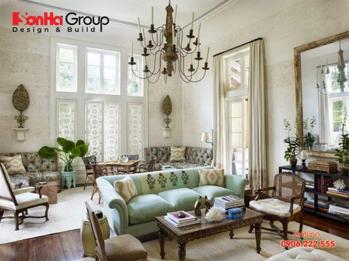 Gam màu trong trẻo và thanh nhã làm nên vẻ đẹp của phòng khách Vintage