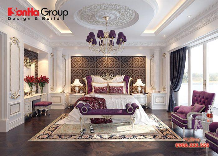 Phòng ngủ master cổ điển cho vợ chồng mới cưới được thiết kế đẹp