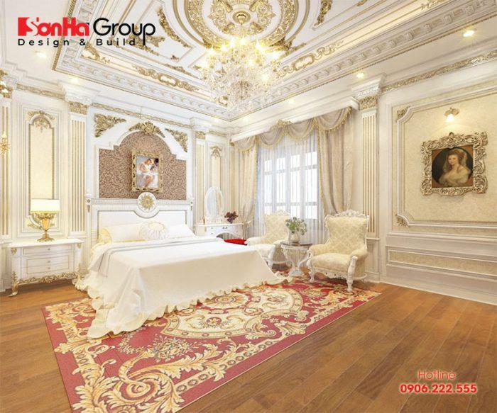 Sàn gỗ là vật liệu được sử dụng khá nhiều trong thiết kế phòng ngủ