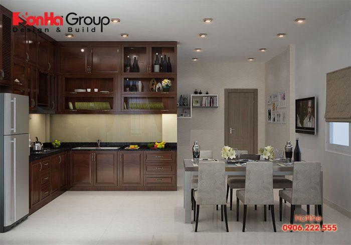 Tủ bếp là nơi đựng các dụng cụ nấu ăn nên cần đảm bảo phải luôn thoáng mát
