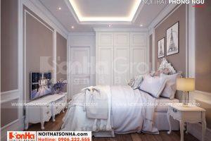 11 Hình ảnh nội thất phòng ngủ giúp việc biệt thự khu đô thị vinhomes imperia