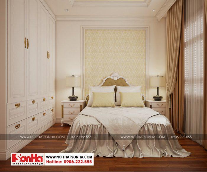 Mẫu phòng ngủ đẹp phong cách tân cổ điển ấm cúng với bố trí giản dị