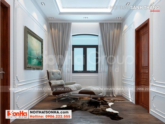 Phương án thiết kế nội thất sảnh thang biệt thự song lập Vinhomes Imperia