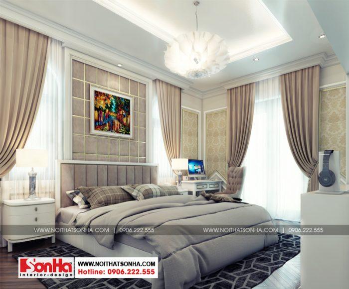 Đồ nội thất hợp thời là yếu tố quan trọng làm nên mẫu phòng ngủ biệt thự đẹp