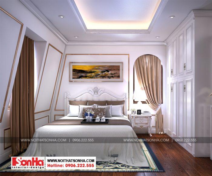 Phòng ngủ bố trí trong diện tích nhỏ xinh nhưng ấm cúng và tiện nghi