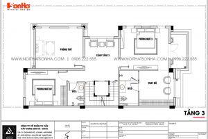 19 Bản vẽ tầng 3 biệt thự 3 tầng kiểu tân cổ điển khu đô thị vinhomes imperia vhi 0004
