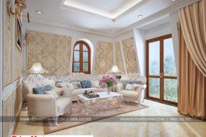 19 Cách trang trí nội thất phòng sinh hoạt chung lầu 3 phong cách tân cổ điển sh btp 0130