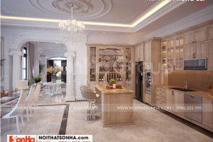 2 Thiết kế nội thất phòng bếp ăn đẹp biệt thự vinhomes imperia