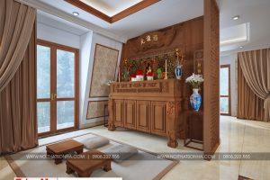 20 Thiết kế nội thất phòng thờ hợp phong thủy tại sài gòn sh btp 0130