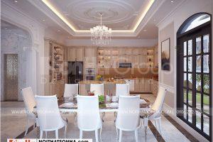 3 Cách trang trí nội thất phòng bếp ăn sang trọng biệt thự vinhomes imperial