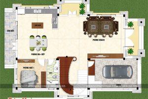 3 Mặt bằng tầng trệt biệt thự tân cổ điển pháp đẹp tại sài gòn sh btp 0130