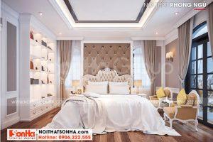 5 Nội thất phòng ngủ kiểu tân cổ điển biệt thự khu đô thị vinhomes imperial