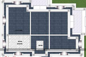 7 Mặt bằng tầng mái biệt thự tân cổ điển 2 mặt tiền tại sài gòn sh btp 0130