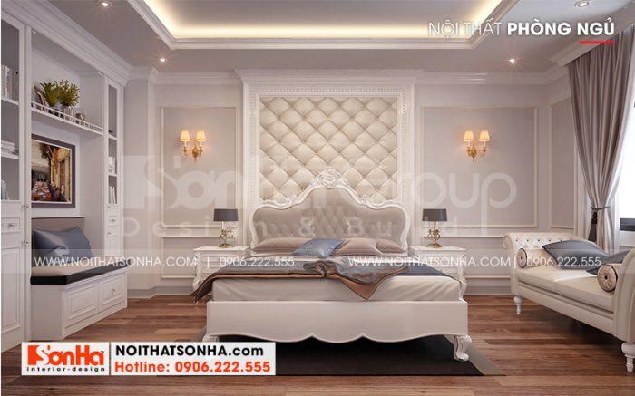 Thiết kế nội thất phòng ngủ đẹp với nội thất gỗ và sàn gỗ màu sắc tinh tế