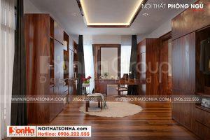 10 Thiết kế nội thất khu thay đồ phòng ngủ vip biệt thự hiện đại 3 tầng tại hải phòng sh btd 0075