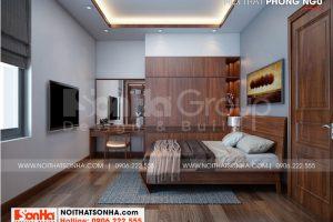 11 Mẫu nội thất phòng ngủ 1 biệt thự mái thái kiểu hiện đại tại hải phòng sh btd 0075