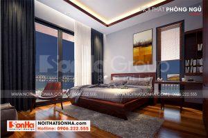 13 Cách trang trí nội thất phòng ngủ 3 biệt thự hiện đại mặt tiền 12,3m tại hải phòng sh btd 0075