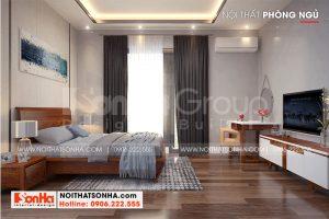 14 Nội thất phòng ngủ 4 biệt thự 3 tầng kiểu hiện đại tại hải phòng sh btd 0075