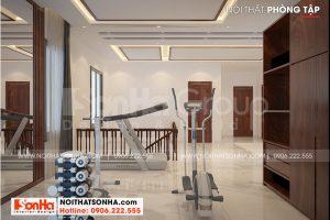 16 Mẫu nội thất phòng tập biệt thự hiện đại đẹp tại hải phòng sh btd 0075